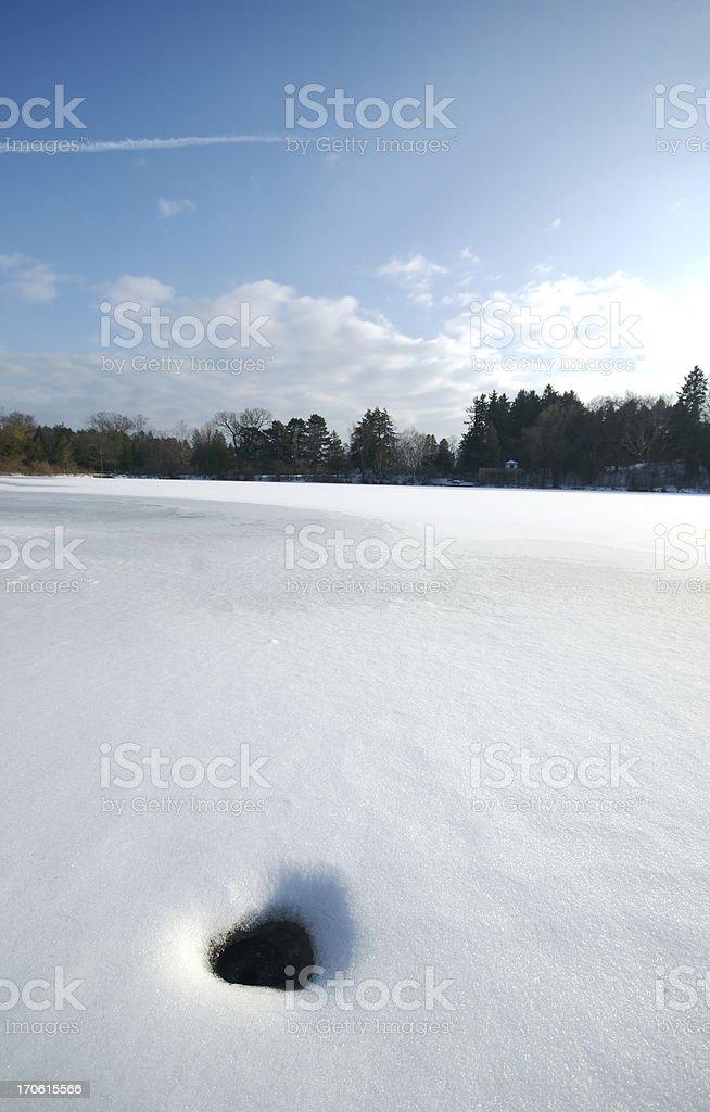 Ice Hole royalty-free stock photo