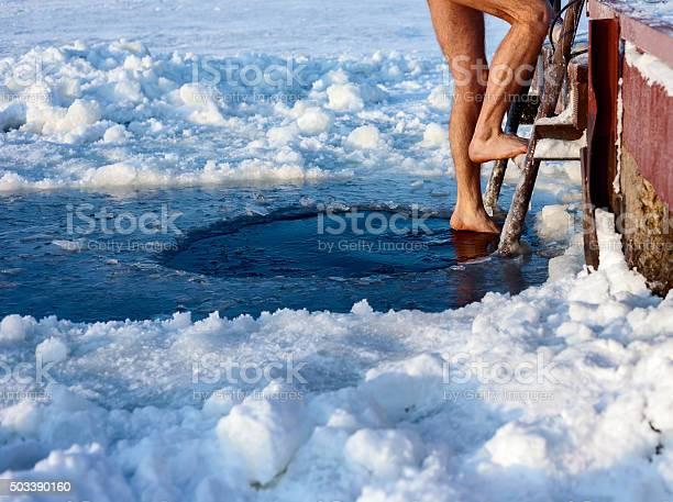 Photo of Ice hole swimming