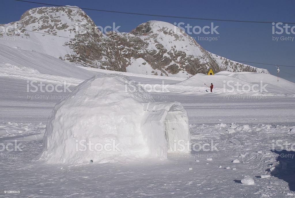 ice igloo royalty-free stock photo