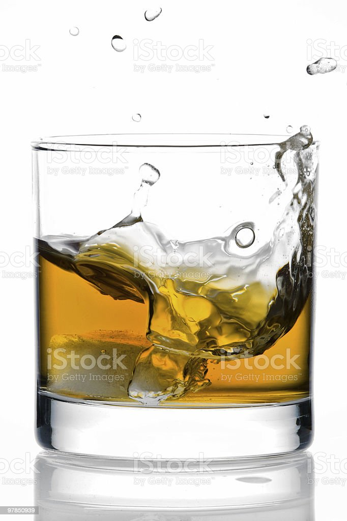 Ice in a Glass of Whisky royalty-free stock photo