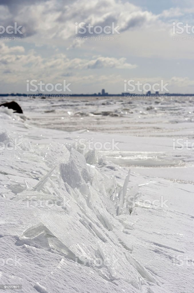 Ice in April royalty-free stock photo
