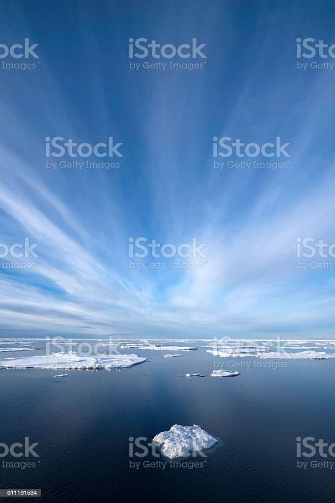 Ice in Arctic Ocean stock photo