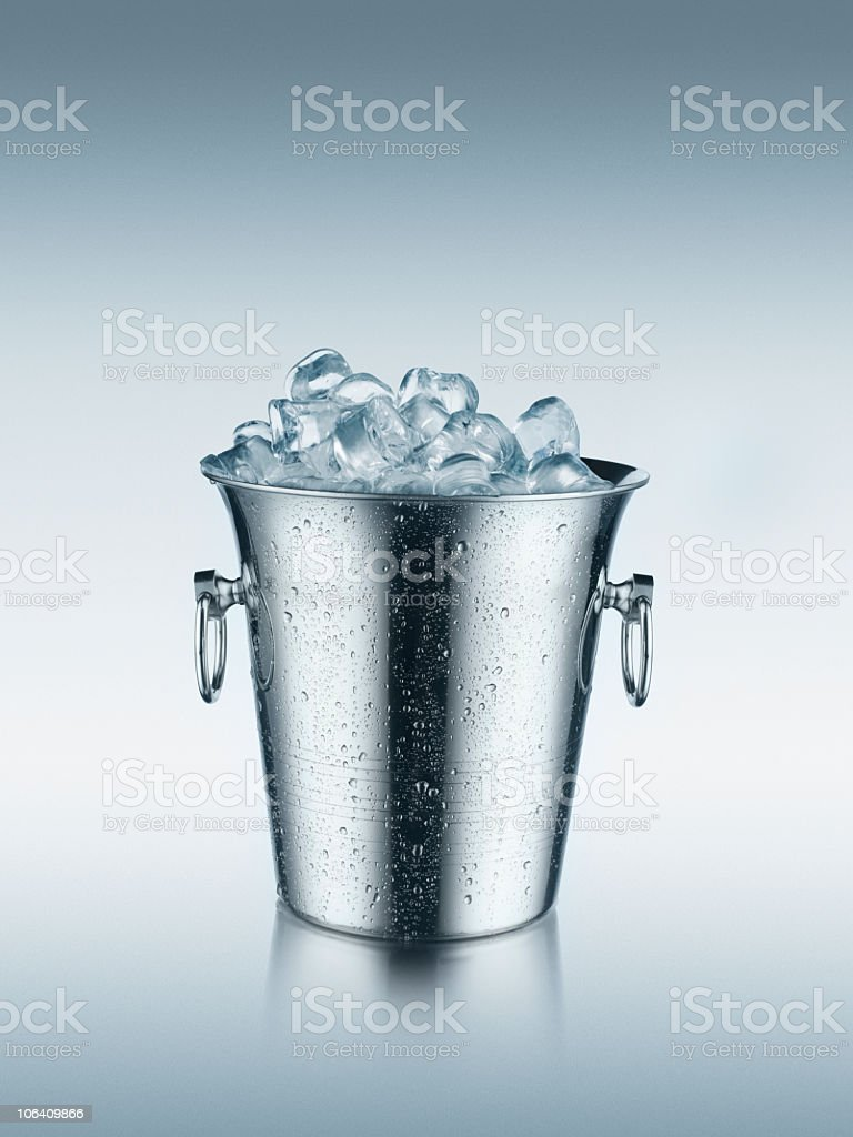 Ice in bucket royalty-free stock photo