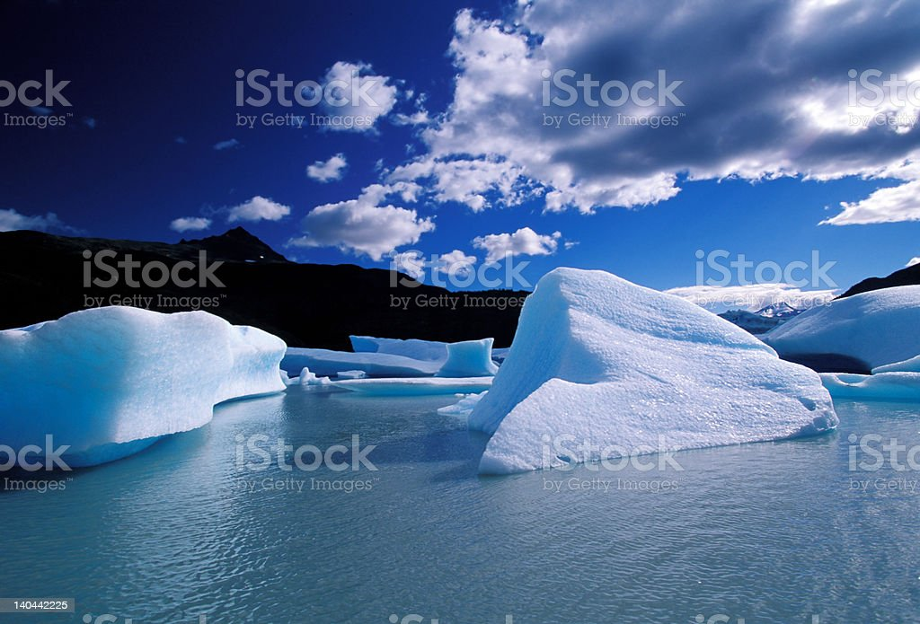 Ice in Grey lake royalty-free stock photo