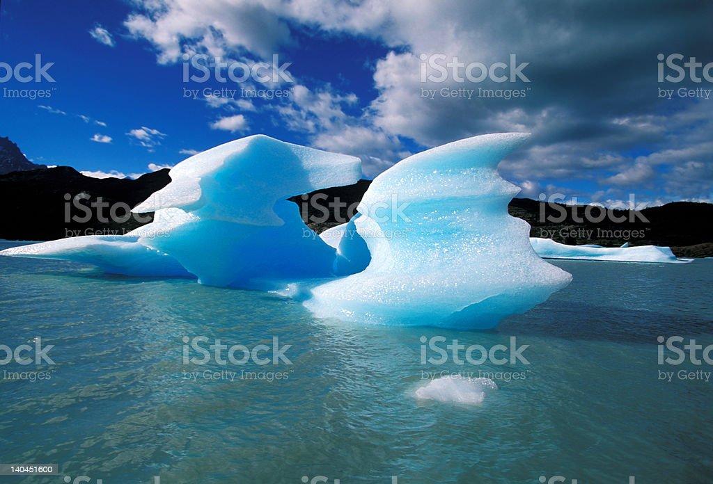 Ice in Grey lake royalty-free stock photo