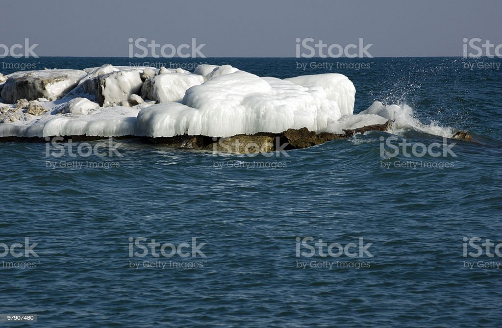 Ice island royalty-free stock photo