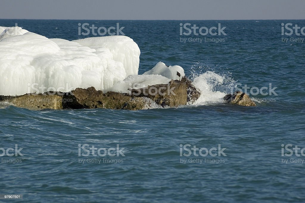 Ice island royalty-free stock photo