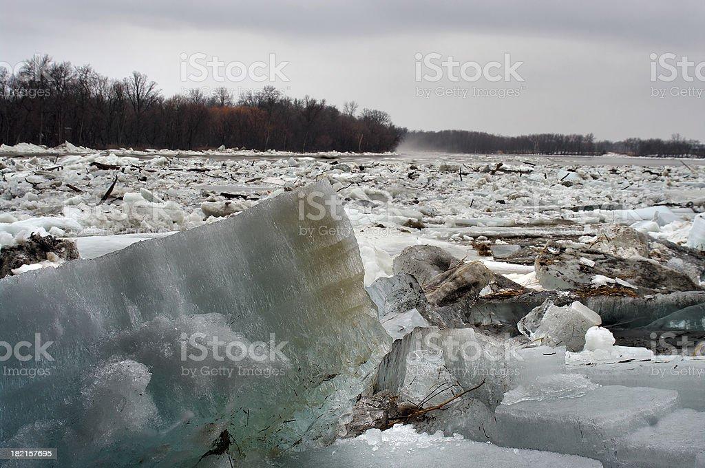 Ice Jam royalty-free stock photo