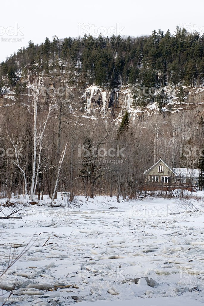 ice jam Winter panorama embacle royalty-free stock photo
