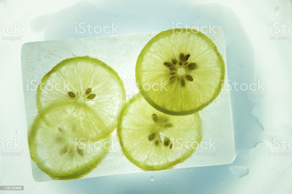 ice lemon royalty-free stock photo