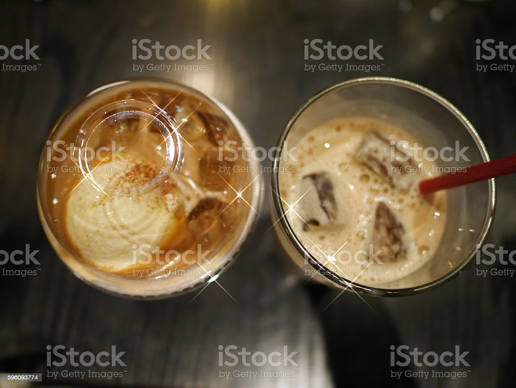 ice Macchiato and ice latte royalty-free stock photo