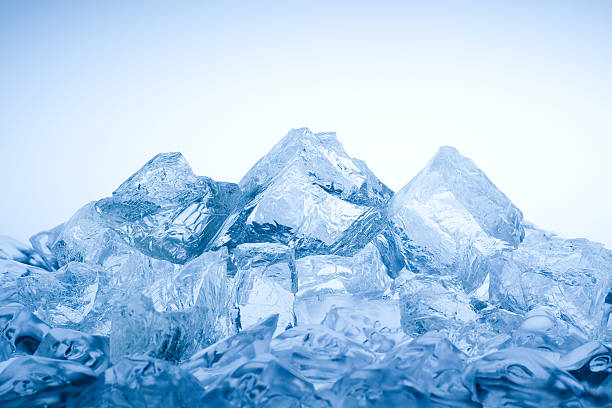 Ice mountain stock photo
