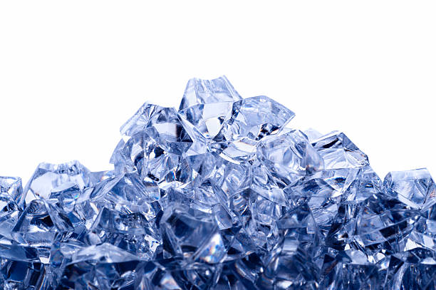 Ice mountain stock photo