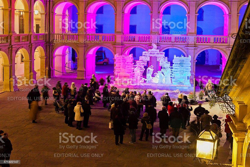 Ice Nativity Scene, Graz royalty-free stock photo