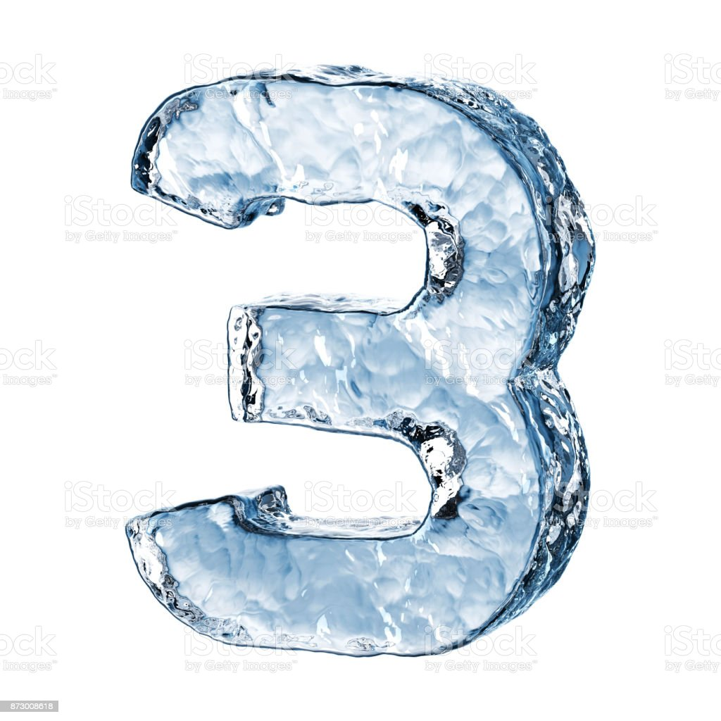 Ice Number 3 Stock Photo - Download Image Now