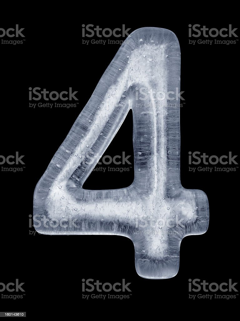 Ice Number 4 royalty-free stock photo