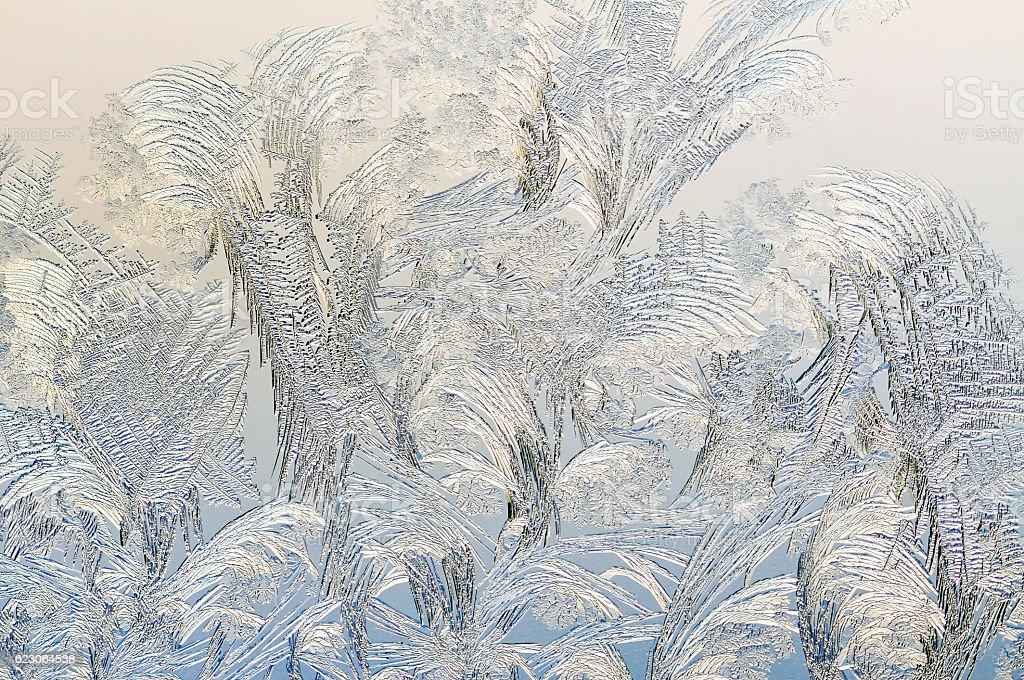 Ice on a window, background stock photo