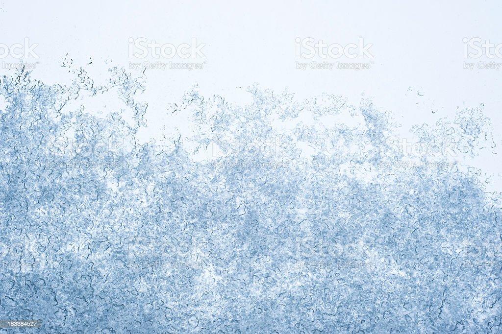 Ice On Glass Texture stock photo