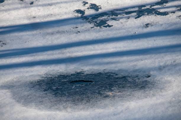 DSC1042D850 Ice on pond stock photo