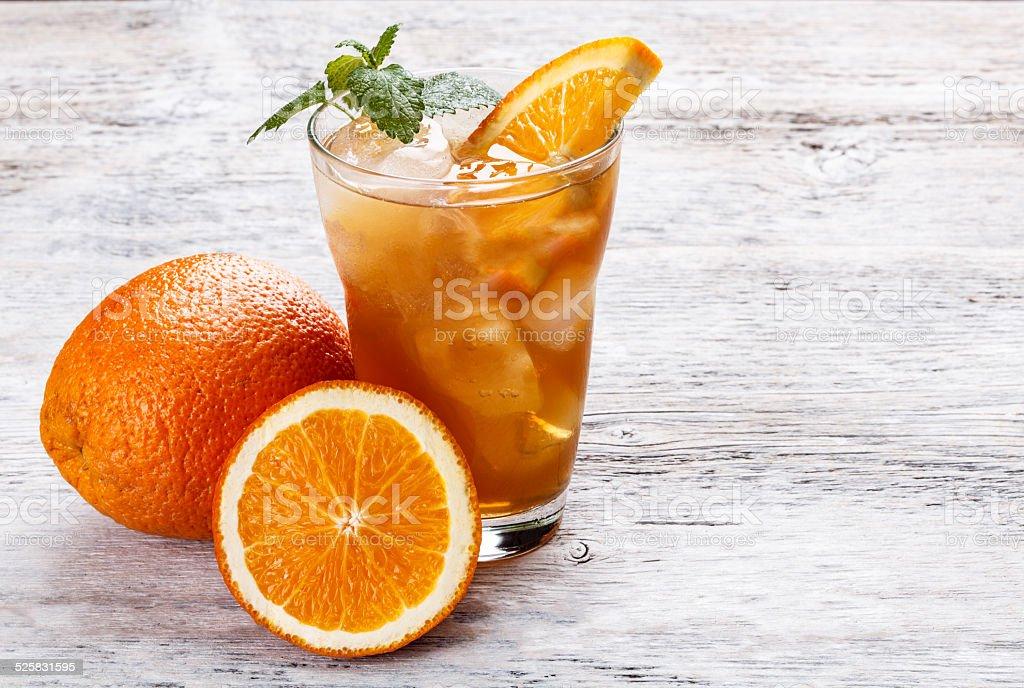 Ice orange tea stock photo