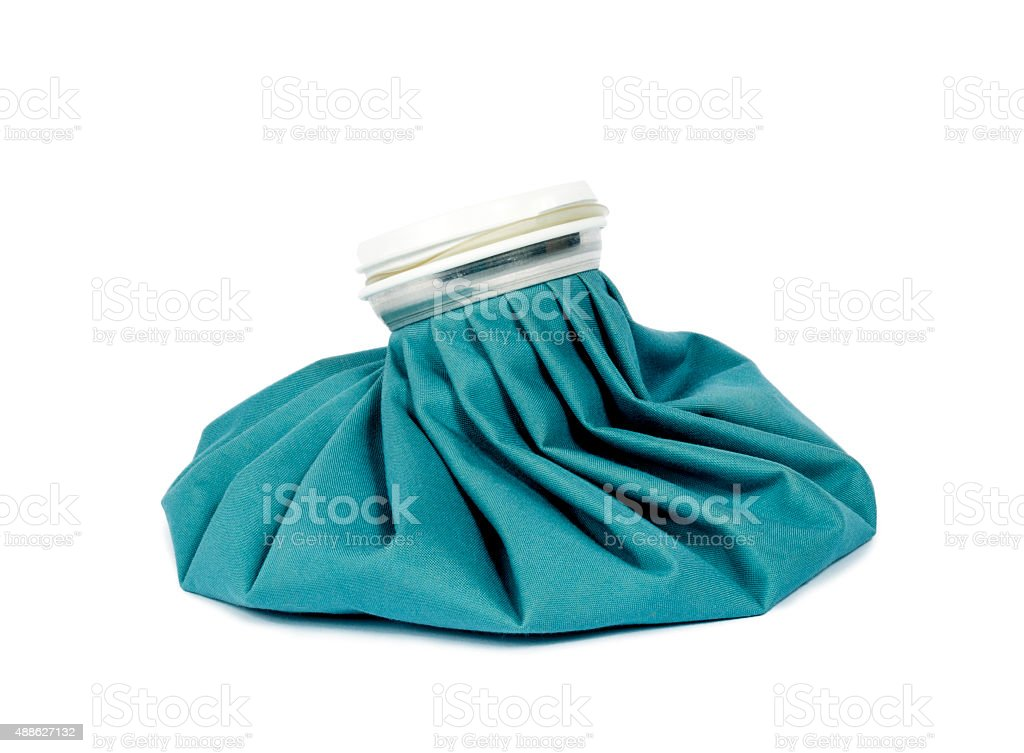 Ice Pack Isolated On White stock photo