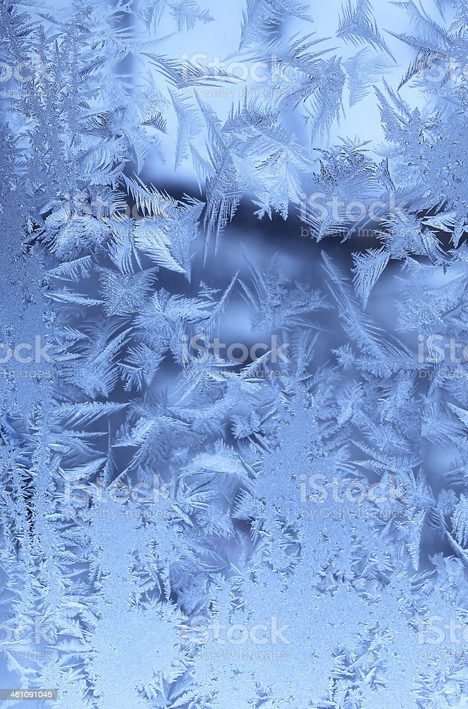 Ice pattern on glass royalty-free stock photo