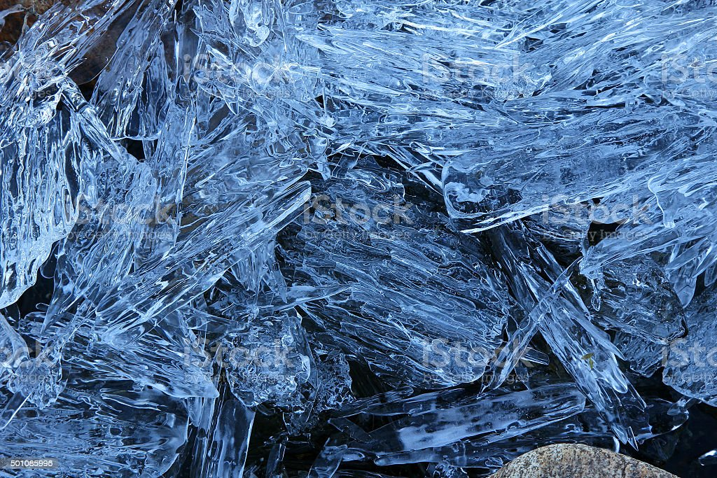 Ice. Patterns stock photo
