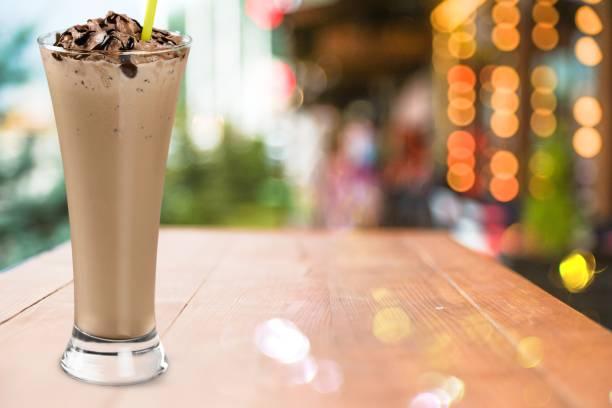 eis. - kaffee protein shakes stock-fotos und bilder