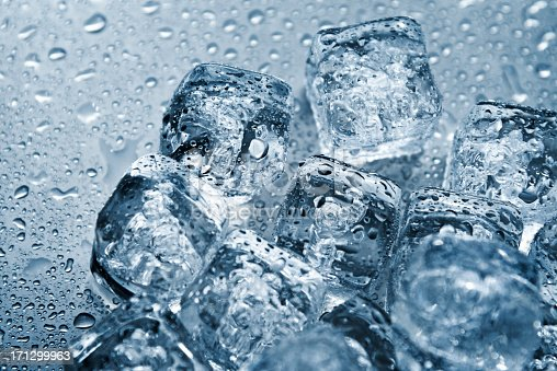 Ice cubes on metal background