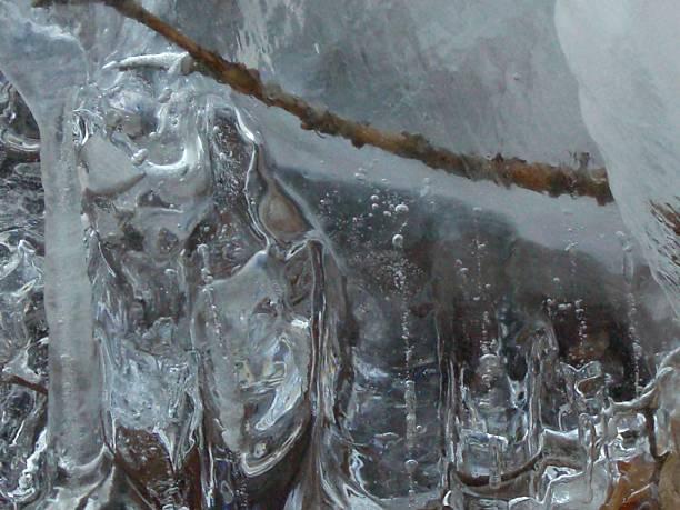 Ice Pillars stock photo