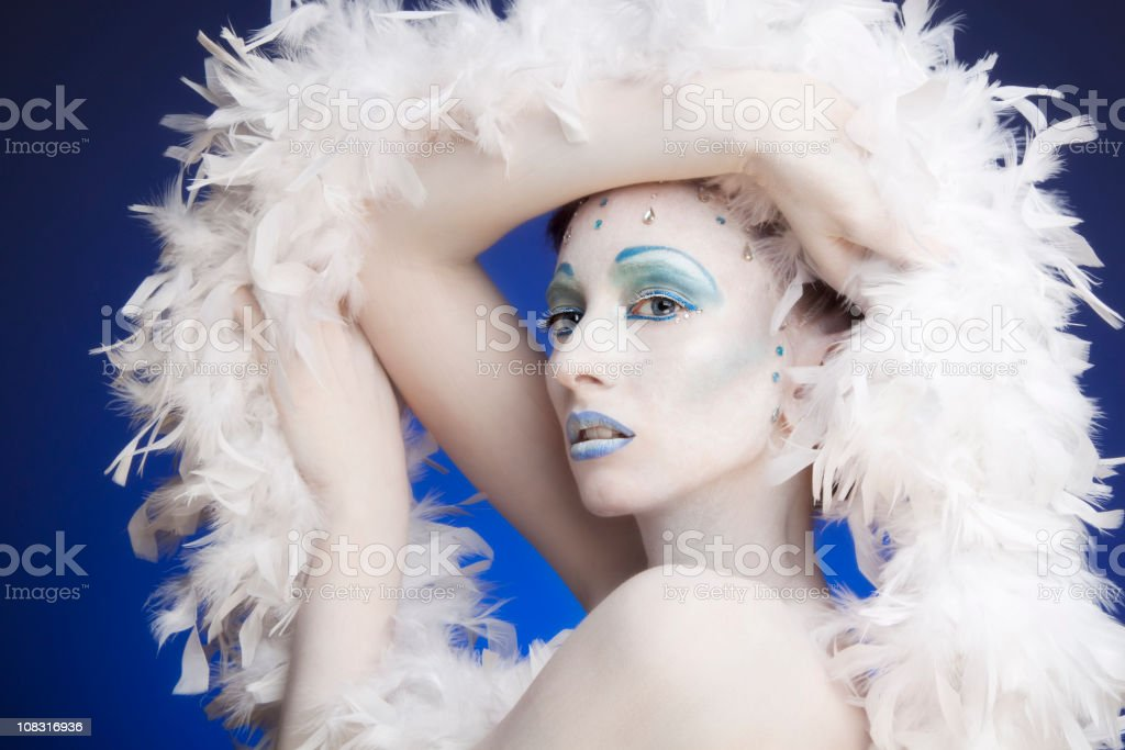 Ice queen royalty-free stock photo
