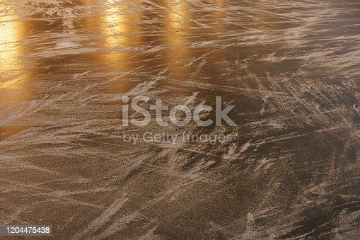 166319867 istock photo Ice rink surface. 1204475438