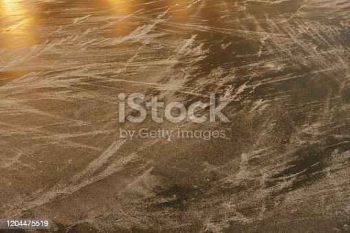 166319867 istock photo Ice rink surface. 1204475519