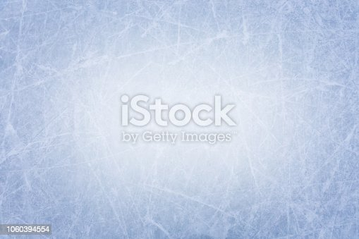 Ice rink surface texture background with many scratches