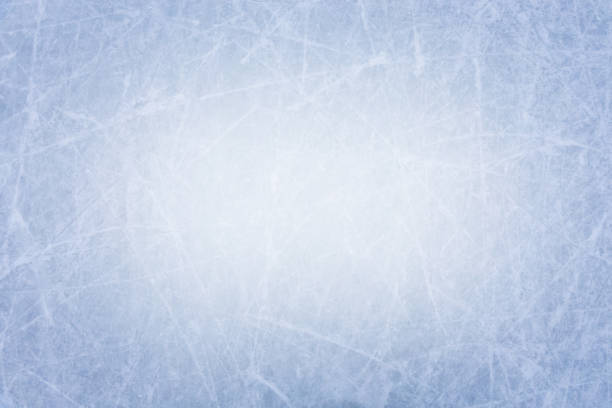 ice rink surface texture background with scratches - hockey foto e immagini stock