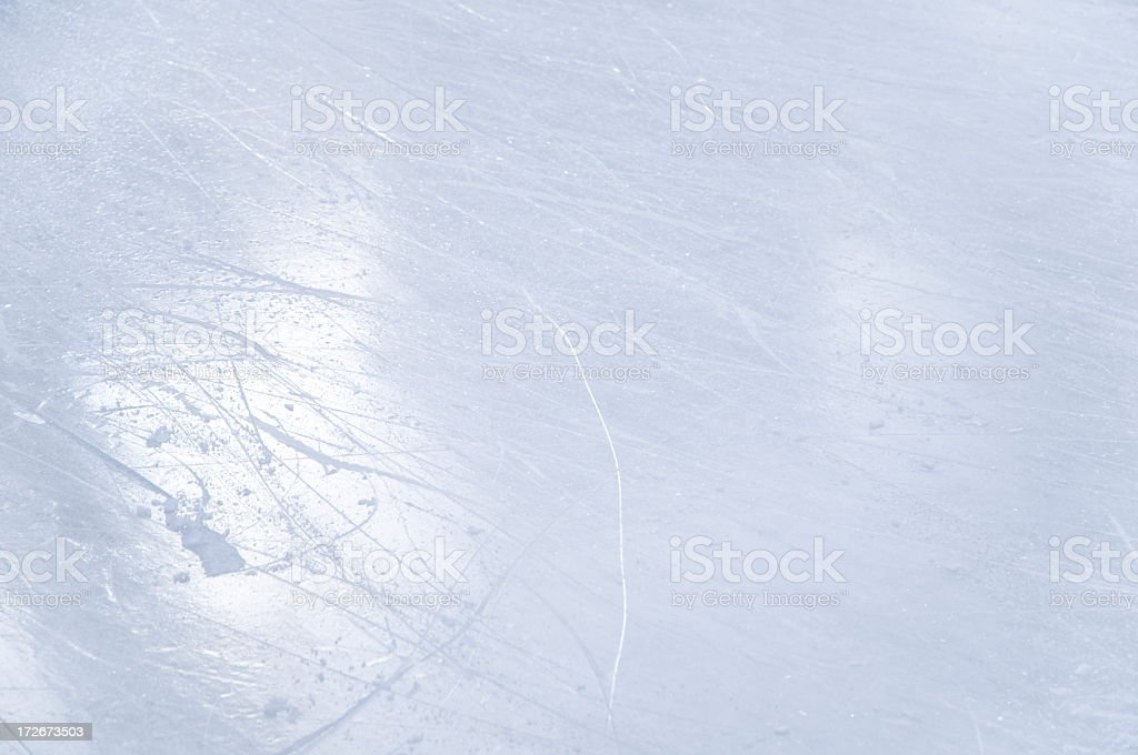Ice rink texture with scratches royalty-free stock photo
