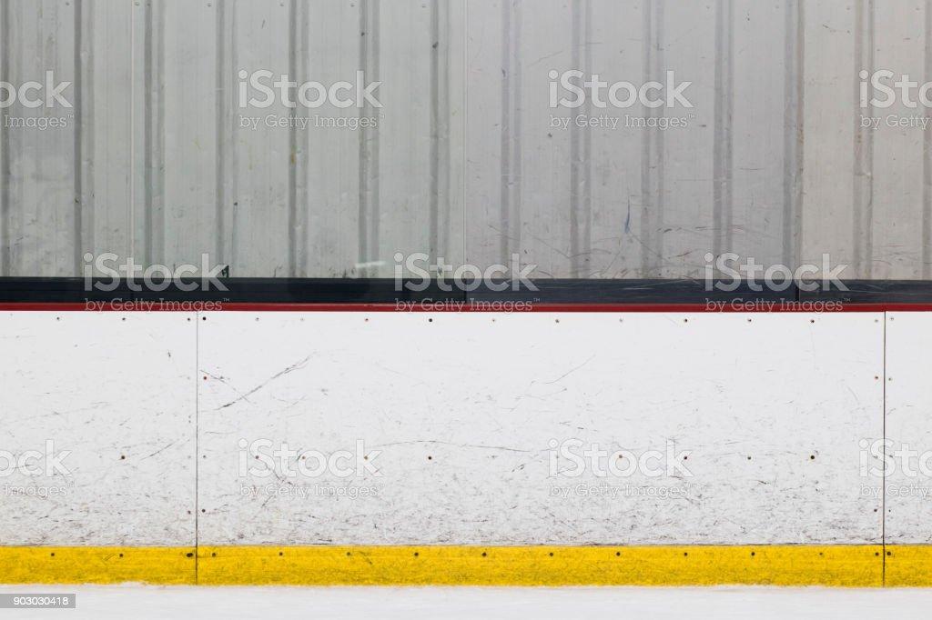 Ice Rink Wall stock photo