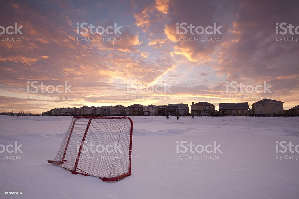 Ice Rink Winnipeg royalty-free stock photo