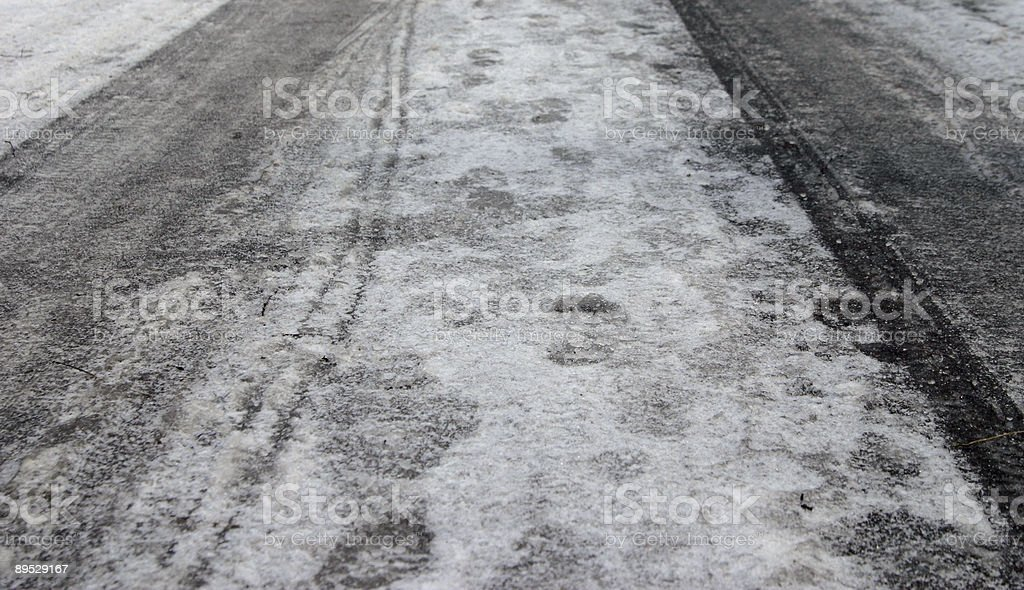 Ice road royalty-free stock photo