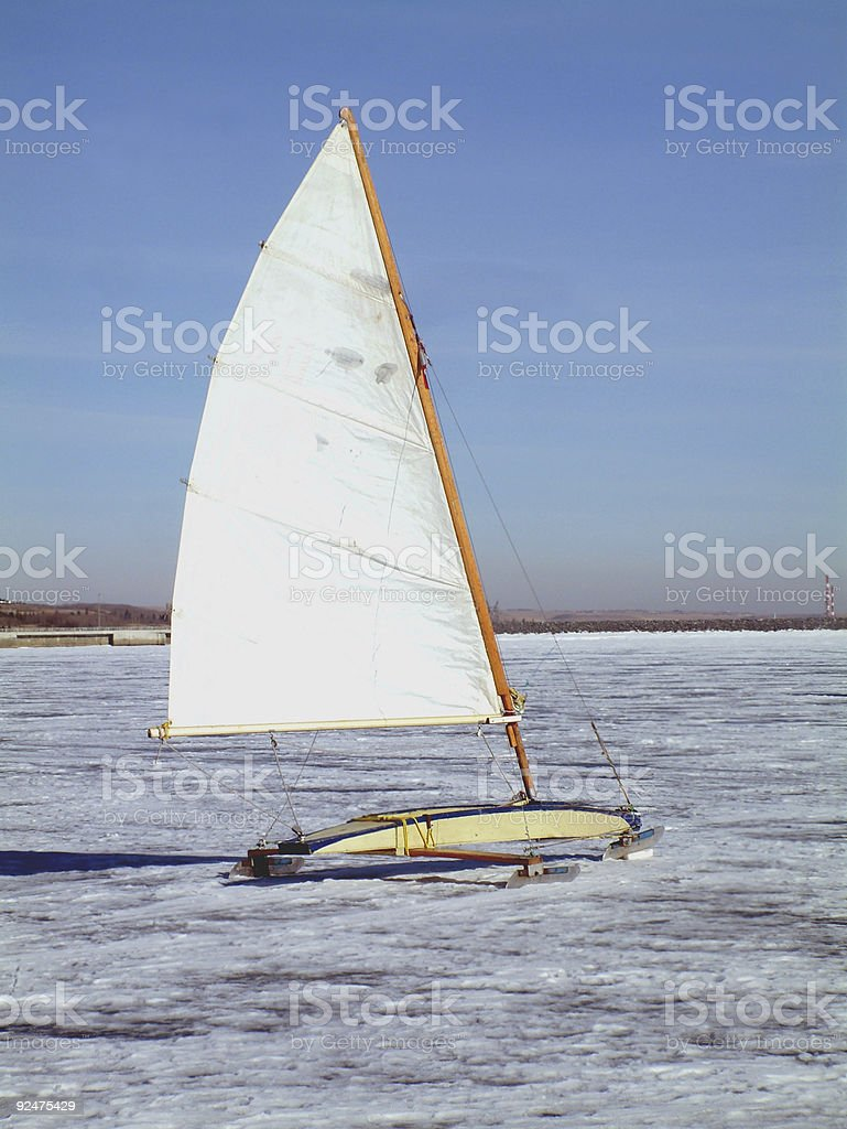 ice sailing royalty-free stock photo