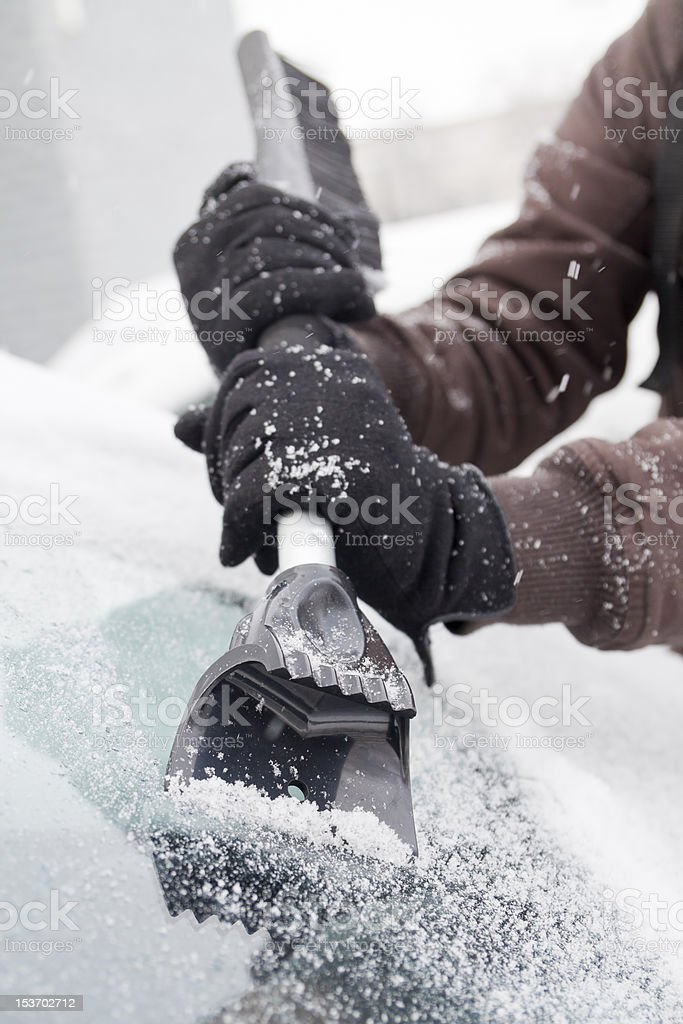 ice scraper. stock photo