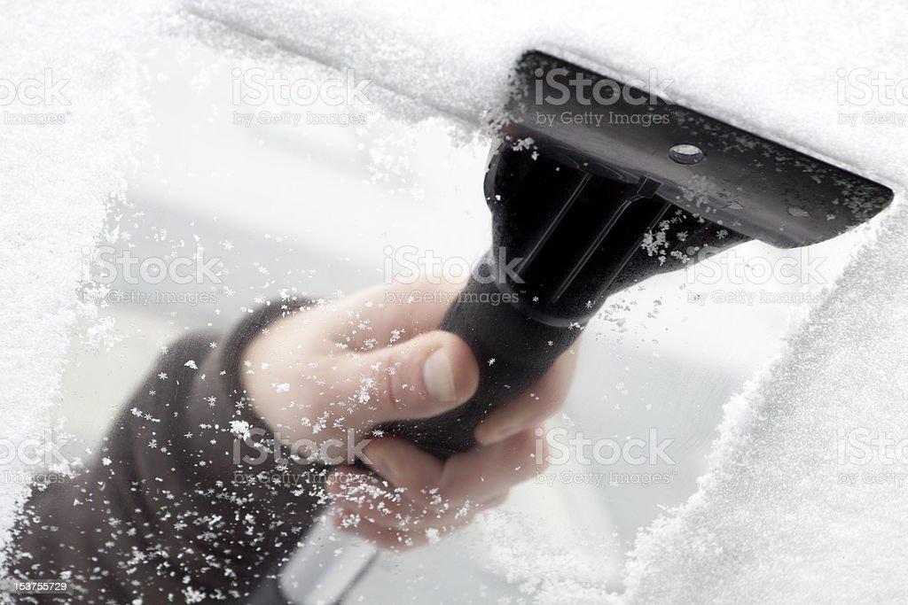ice scraper. royalty-free stock photo