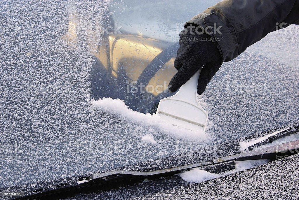 ice Abschaben - Lizenzfrei Kratzen Stock-Foto