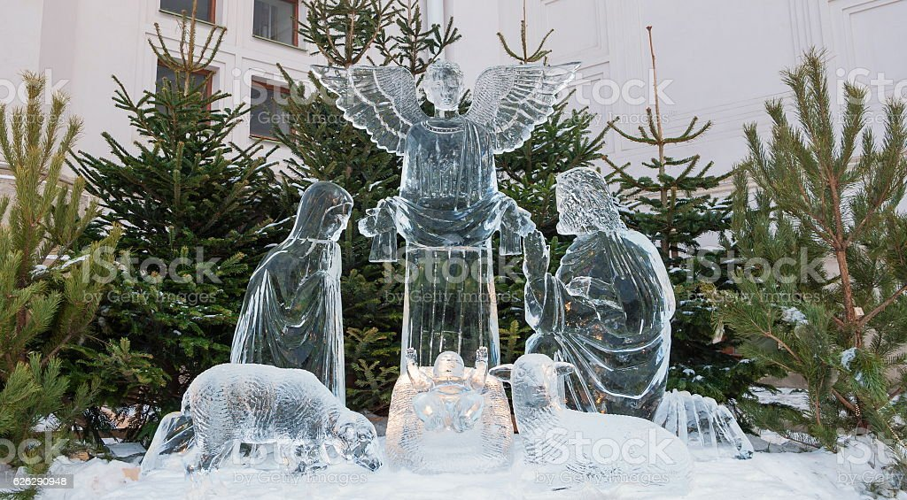 ice sculptures stock photo