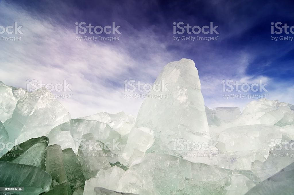 Ice shelves stock photo
