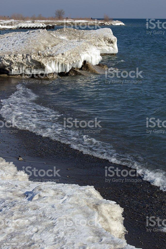 Ice shore royalty-free stock photo