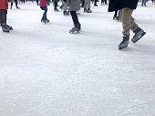 Ice skaters in Bryant Park, New York.