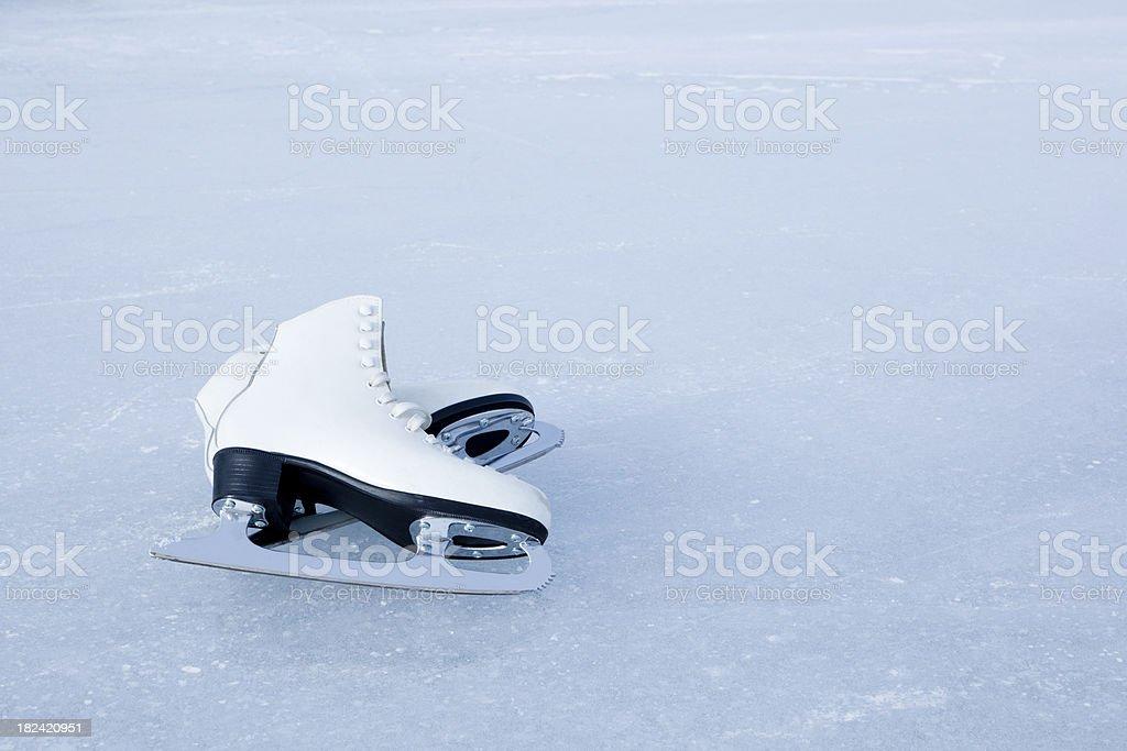 Ice skates stock photo
