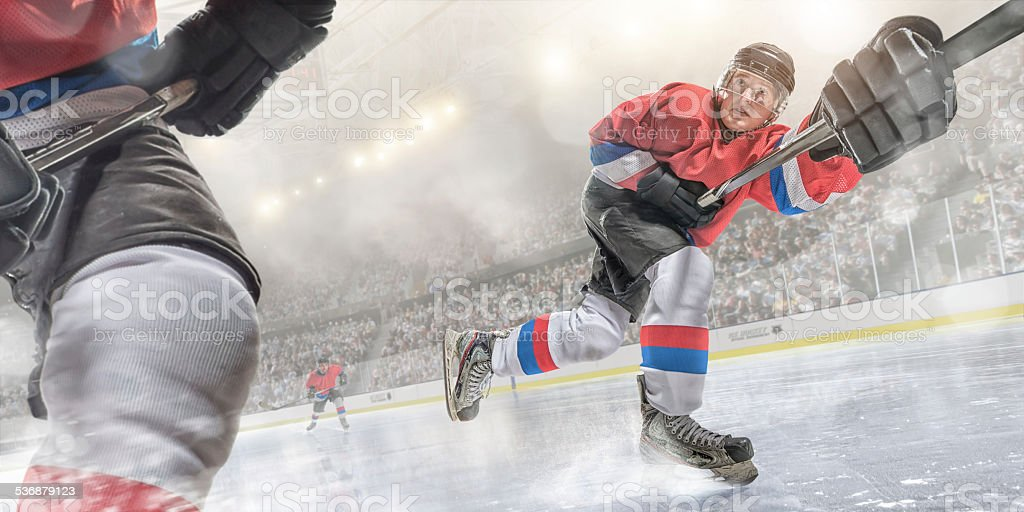 Ice Skating Action stock photo