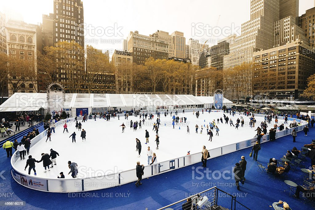 Ice Skating in New York royalty-free stock photo